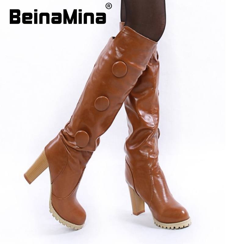 high heel knee boots retro vintage botas