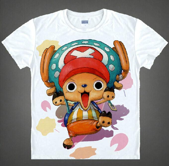 New 2015 Japanese anime Free Shipping One Piece T-Shirt Fashion Men Women Short Sleeve T Shirt Luffy Cosplay Tshirt Top(China (Mainland))