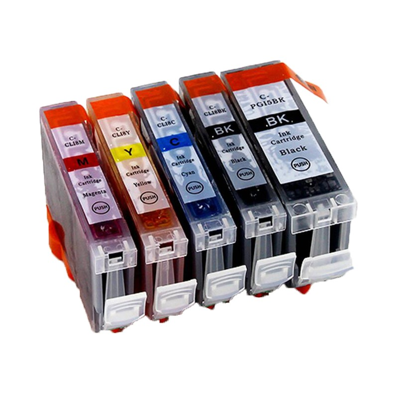 PGI-5BK/CLI-8BK/CLI-8C/CLI-8M/CLI-8Y print cartridge for Canon MP610/MP600R/MX850/MP600/MP610/MP800 printer 5 Pcs High Quality