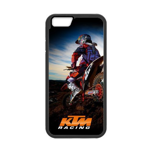 KTM Racing Sunset Motocross cover case for iPhone 4 4S 5 5S SE 5C 6 6S Plus(China (Mainland))