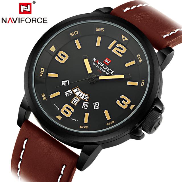 2015 Relojes хомбре люксовый бренд военные часы мужчин армия кожаный ремешок свободного покроя бизнес кварцевые наручные мужские Relogio Masculino