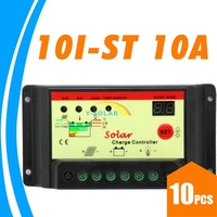 10PCS 10A Solar Charge Controller 10 AMP Solar Regulator  light and timer control with led indicator