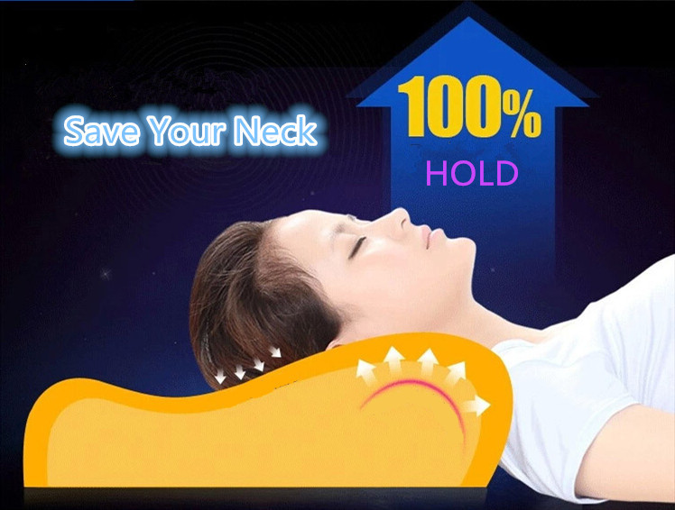 Memory foam pillow care new Soft Massage Orthopedic Latex Neck Pillow Fiber Slow Rebound Memory Foam Pillow Cervical Health Care cheap
