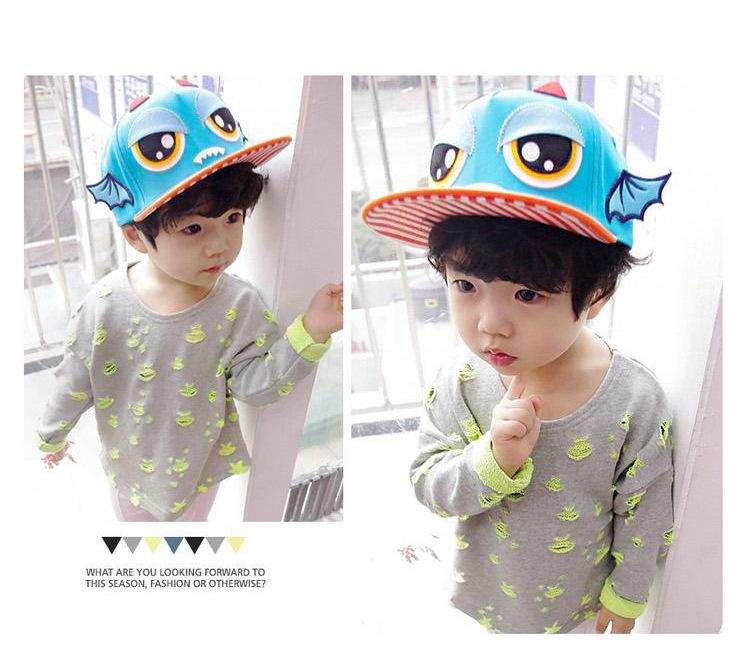 2016 New Fashion Cute Cartoon Summer Baby Hat Cotton Infant Baseball Cap 2-5 Years Girls Boys Canvas Hat(China (Mainland))