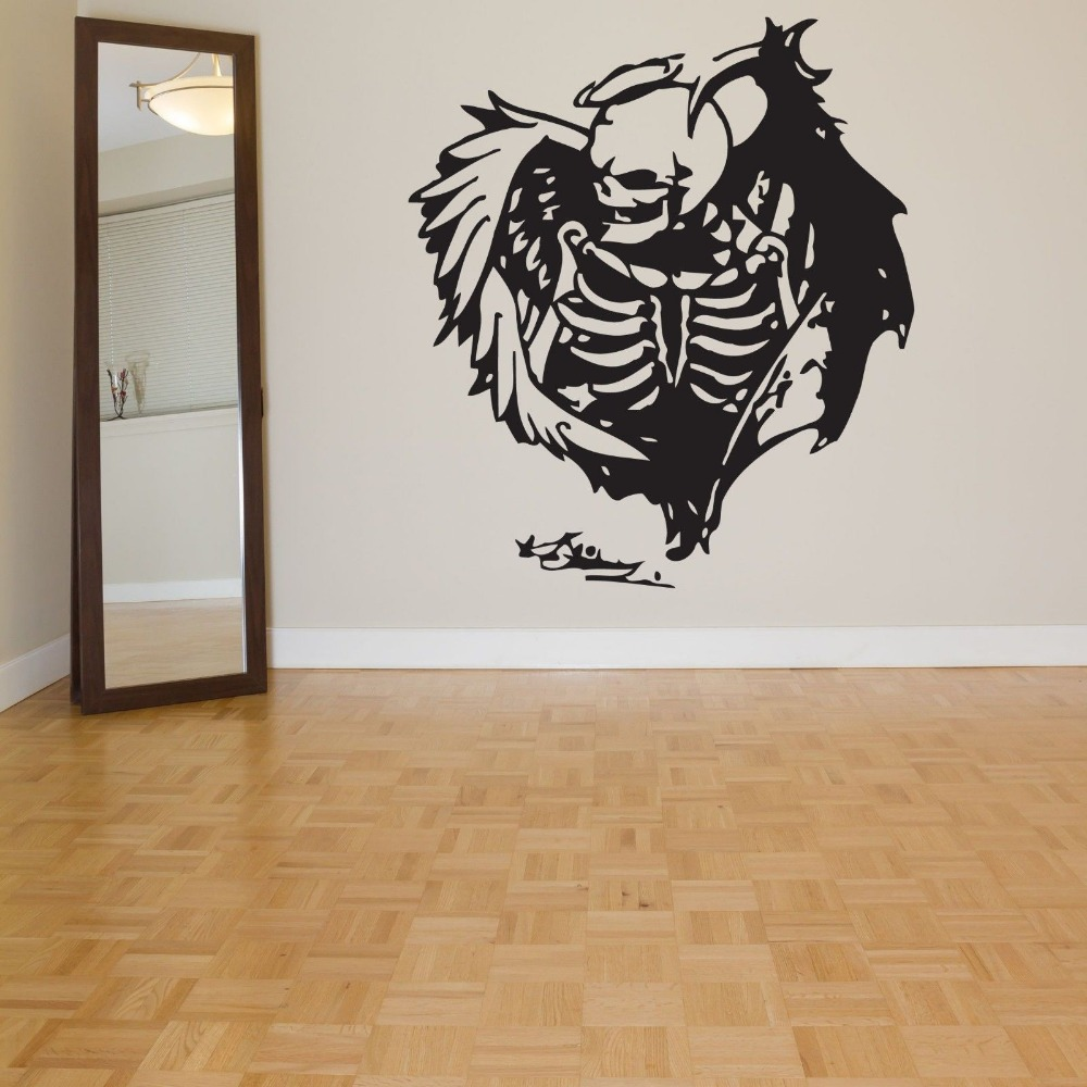 Buy halloween sticker skull decal for Custom vinyl mural prints