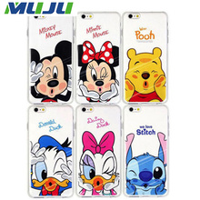 100pcs/lot Cellphone Classical Cartoon Pattern Design Case Ultra Thin Clear Protection Back Cover For iPhone 5 5S SE 6 6s plus