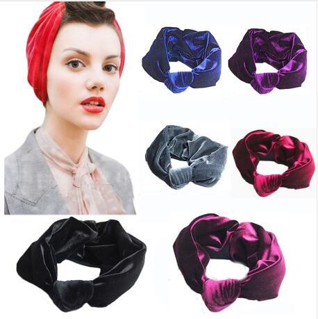 1PCS Velvet Knot Headband Women Twist Headband Women Scrunchy Hair Band Turban Headband Bandana Bandage On Head For Women(China (Mainland))