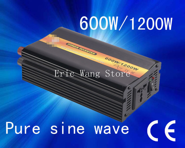 Best quality!!Pure sine wave 600w power inverter(DC to AC) dc 48 v ac 110v/220v (CP-P-600W)