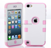 For Touch 5 Case Multicolor Hybrid 3 in 1 High Impact Case Cover For Apple iPod Touch 5 5th Generation Case Cover Free Shipping(China (Mainland))