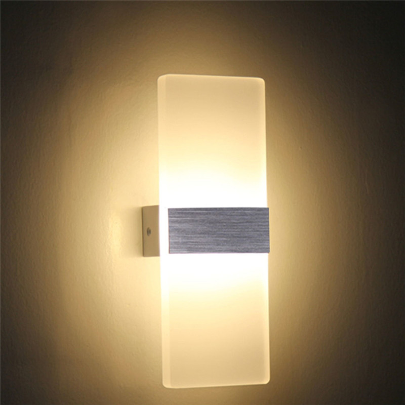 Modern 6W LED Wall Light Bathroom Light High Quality Aluminum Case Acrylic Crystal Wall Lamp Bedroom Living Room(China (Mainland))