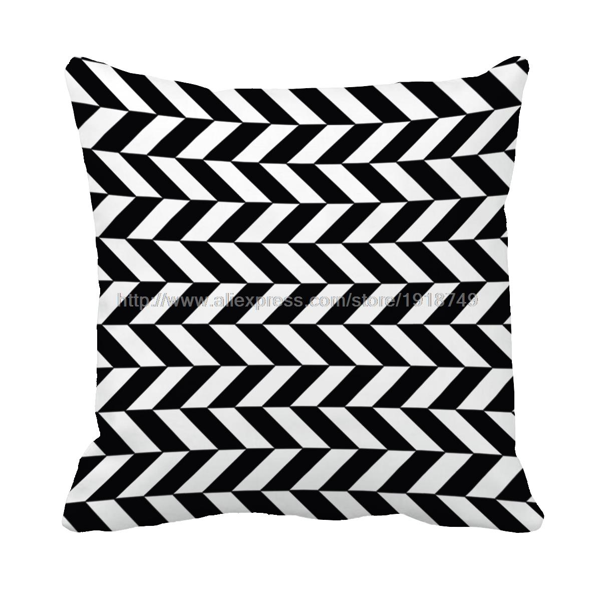 Black And White Geometric Throw Pillows : black and white rhombus printed decorative throw pillow case modernist geometric cushion covers ...