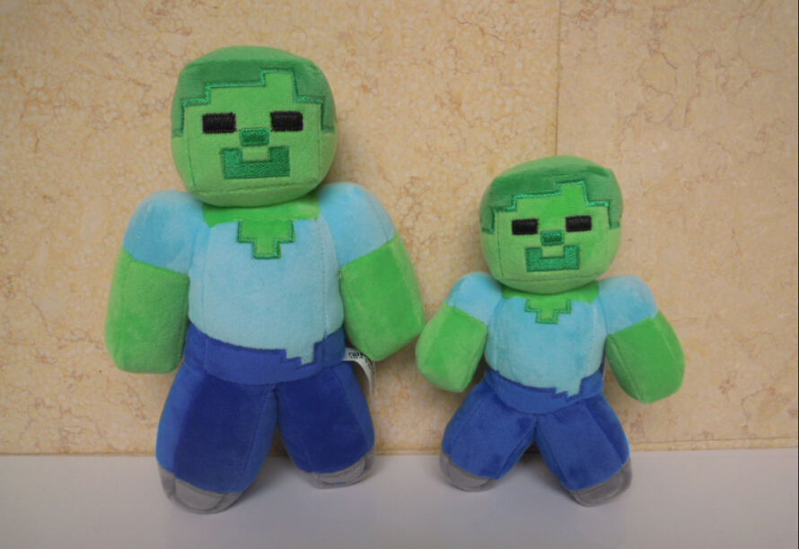 2015 Good Quality game Minecraft Cute soft Toy doll Zomberman 18cm Plush Kids&Children Birthday&Christmas Gifts Free shipping(China (Mainland))