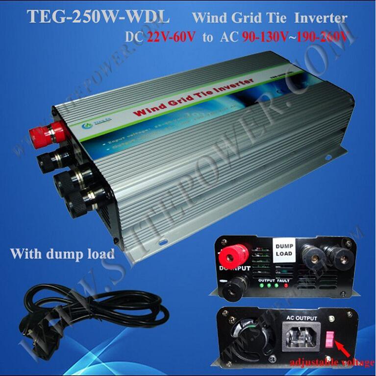 pure sine wave wind power system dc to ac 220v 48v grid tie inverter 250w(China (Mainland))
