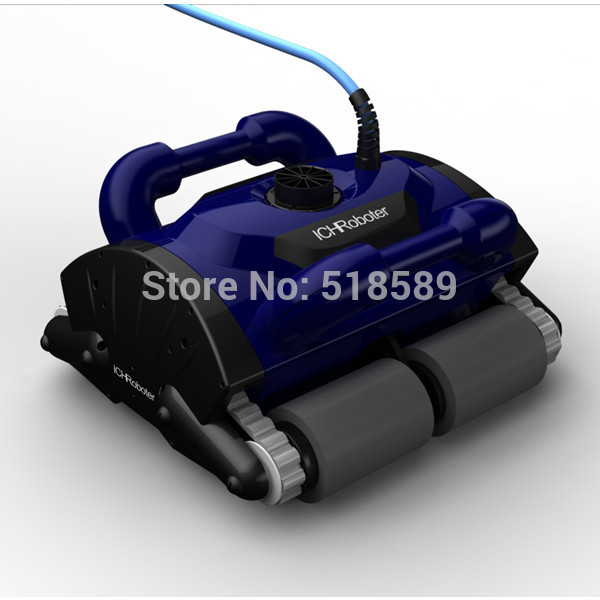 Free Shipping New Model iCleaner-200 with 15m cable Swim Pool Robot Cleaner robot swimming pool cleaner with caddy car(China (Mainland))