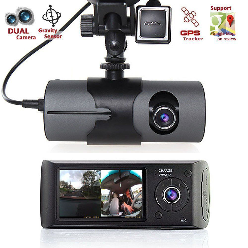 "2.7"" TFT LCD Full HD GPS Car Auto Vehicle Dual Camera DVR Dashboard Cam Carcam Dashcam video camera Free Shipping(China (Mainland))"