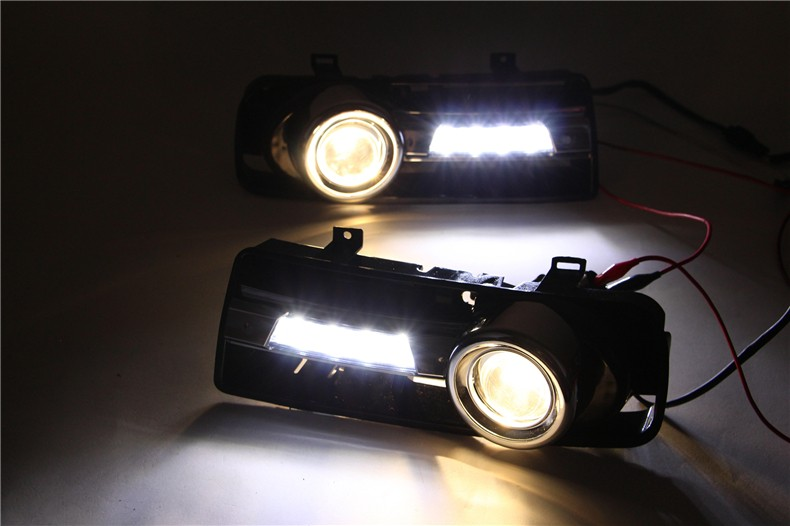 A&T car styling For VW golf 4 LED DRL For golf 4 led fog lamps daytime running light High brightness guide LED DRL