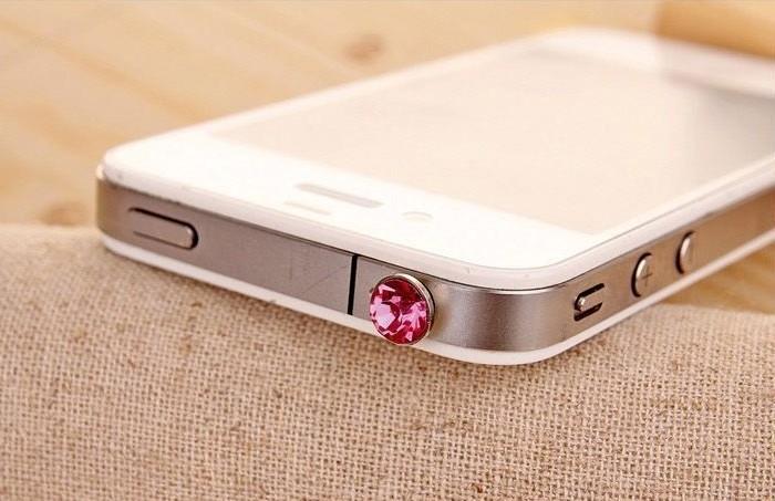 10 pcs Colorful earphone Dust plug for Samsung s7 fashionable dust plug for headphon port hole 3.5mm universal diamond dust plug