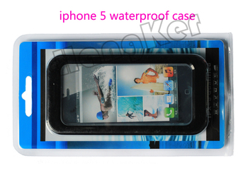 Hot 5 color Waterproof Case Cell Phone Cases Protector Water Proof For iPhone 4 4S 5 Free shipping