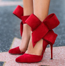 Red High Heels with beautiful botwie