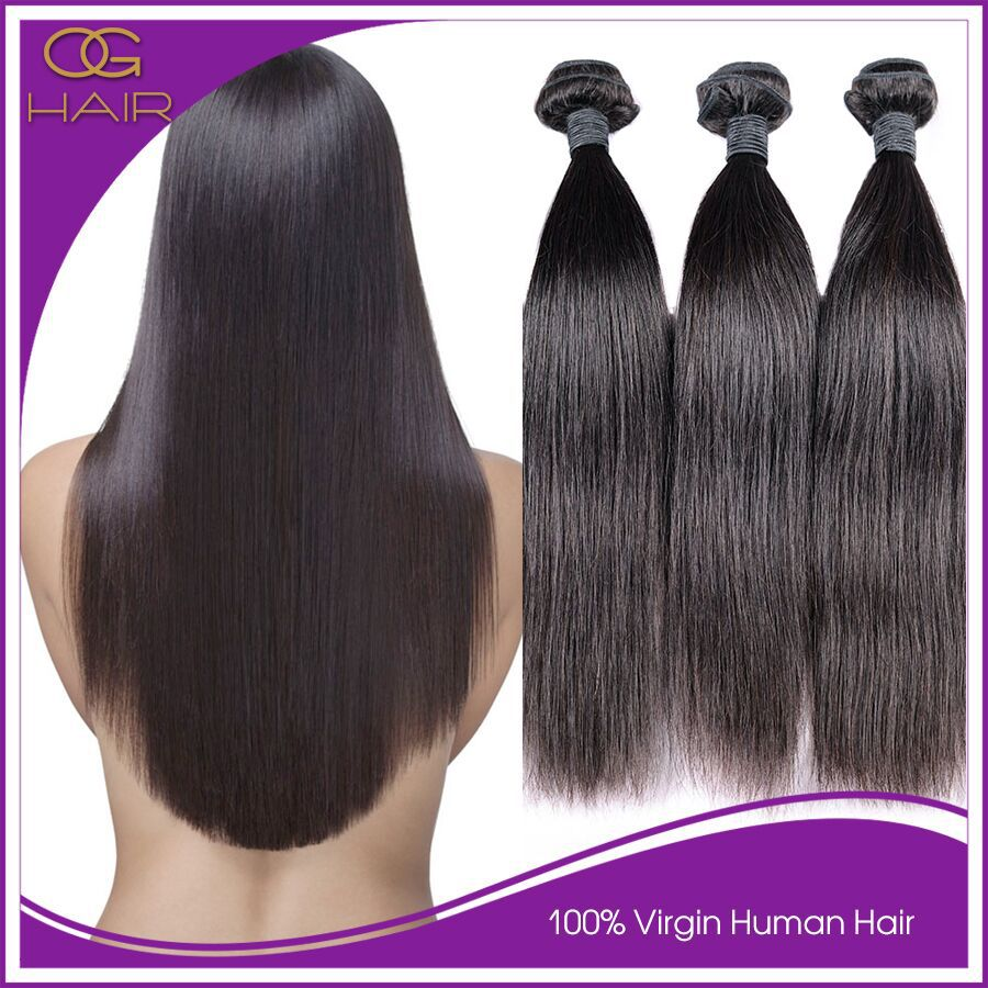 6A Queens Hair Products Brazilian Straight Hair 3pcs Remy Human Hair Queen Weave Beauty Brazilian Straight Virgin Hair Paypal(China (Mainland))