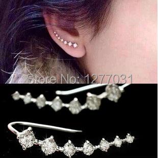 Seven stars Earrings Rhinestone Trendy Jewelry Beautifully Ear Accessories Earring Zircon Sparkling Crystal Trinkets .(China (Mainland))