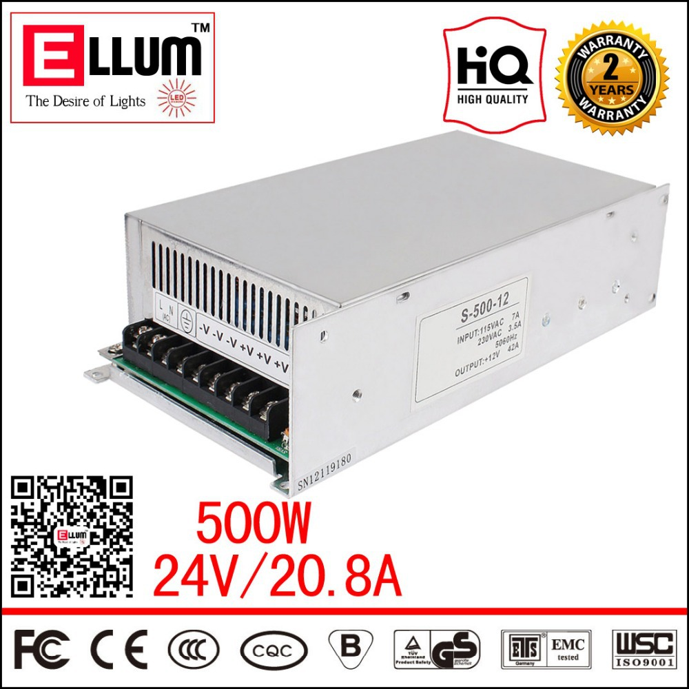AC Power Regulator 220V 24V DC Converter Linear Pulse 480W CE ROHS Approval LED Driver Switching Power Supply 24V 20A 500W<br><br>Aliexpress