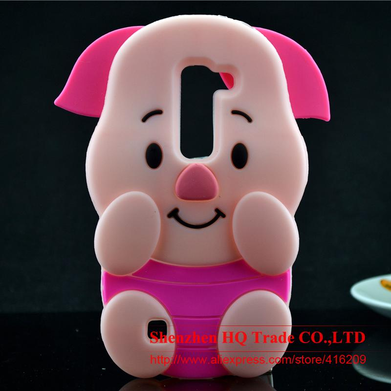 For LG Magna H502F H500F Case 3D Case Pink Pig Piglet Silicone Rubber Cell phone Cases Covers Phone Case(China (Mainland))