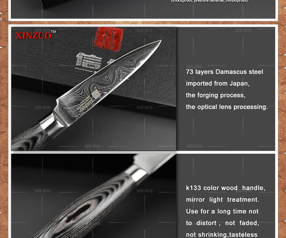 Buy 5 pcs kitchen knives set 73 layers Japanese VG10 Damascus steel kitchen knife set cleaver chef utility wood handle free shipping cheap