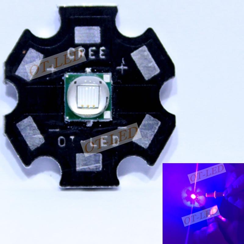 Epileds 5050 XML 8W UV Purple 395NM - 400NM Led Emitter Lamp Light 3.4-3.8V 2800mA On 16MM/20MM PCB Board<br><br>Aliexpress
