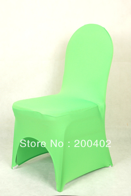 sales promotion free shipping bright green  spandex chair cover/lycra chair cover for weddings,leather leg pocket chair cover