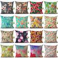 2016 Retro Style Beautiful Cherry Printed Linen Square Sofa Decor Home Decor Throw Pillow Cotton Linen