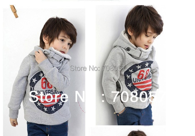 Retail hot selling 2015 winter autumn children long sleeve sweater thick warm boys hoodies 2-6years kids stock  -  shop store