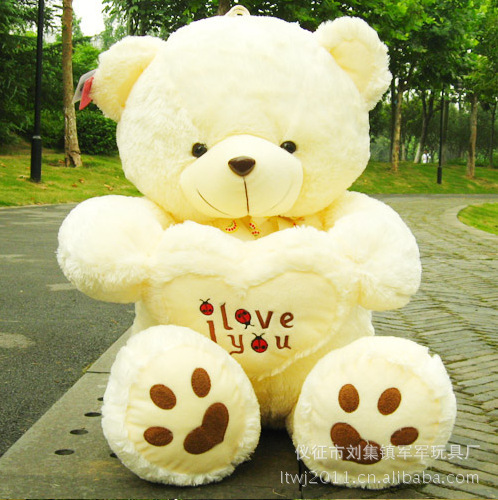Free shipping embrace bear gift Lovely teddy bear doll toys best price and high quality, plush toy,50cm size, 2 color(China (Mainland))