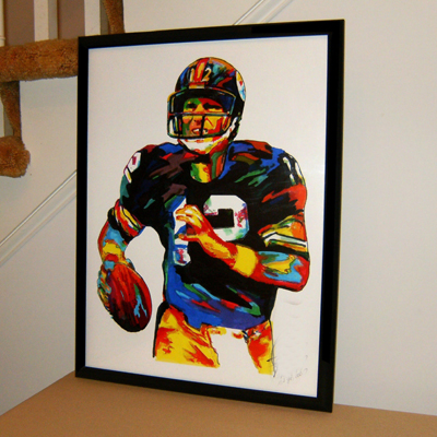 """Terry Bradshaw, Pittsburgh Steelers, Quarterback, Football -100% hand painted Abstract art TOP OIL painting-36 """" -free shipping(China (Mainland))"""