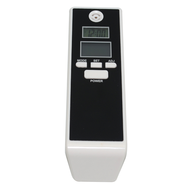 Free shipping White Professional Digital Alcohol Tester Timer Analyzer Breathalyzer Detector Dual LCD Display Gift(China (Mainland))
