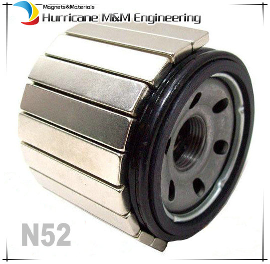 24pcs N52 Gasoline filter Magnet 60 mm NdFeB Block for Automotive Oil Filter Chrome Plating Neodymium Water Pipe Filter Magnets(China (Mainland))