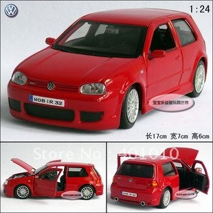 New 1:24 Volkswagen VW Golf r32 alloy car model free air mail