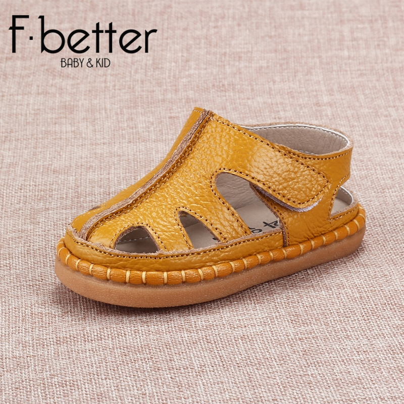 Fbetter First Walkers For Newborn Baby Boys Summer Shoes Genuine Leather Hook&loop Shoes 8 size Free Shipping(China (Mainland))