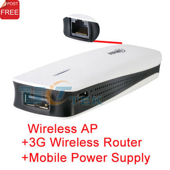 Hame 5in1 3G 802.11N WiFi Wireless Hotspot Broadband Router 1800mAh Moblie Power Bank MPR-A1 Singapore Post