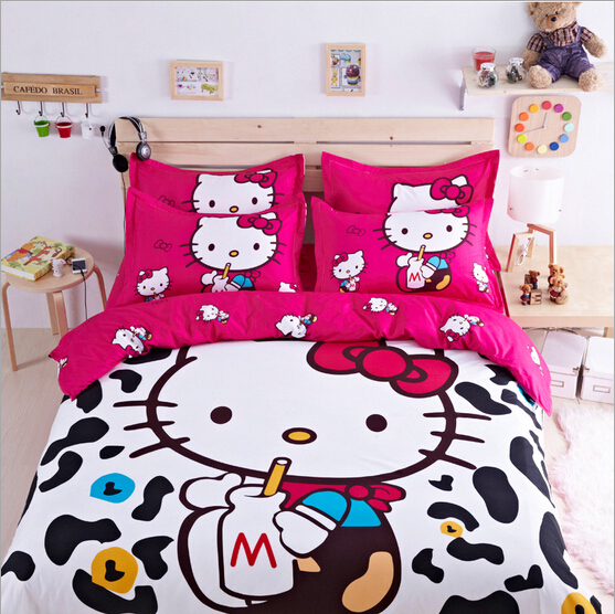 buy hello kitty cartoon bed set bedding