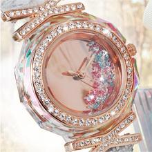 Mrhea mujeres de moda reloj de pulsera de señora rhinestone de la CZ Python patrón de cuero hora de vestir pulsera joyería de regalo de lujo cristal