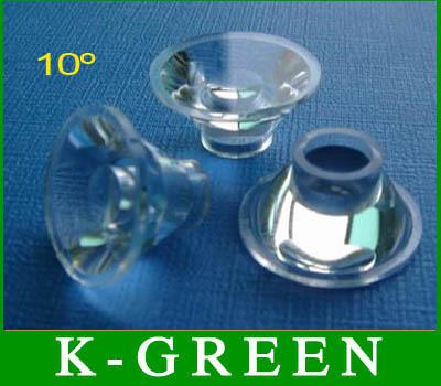 100X high power led lens 10degree 1w 3w LED lamp optics led lens free shipping(China (Mainland))