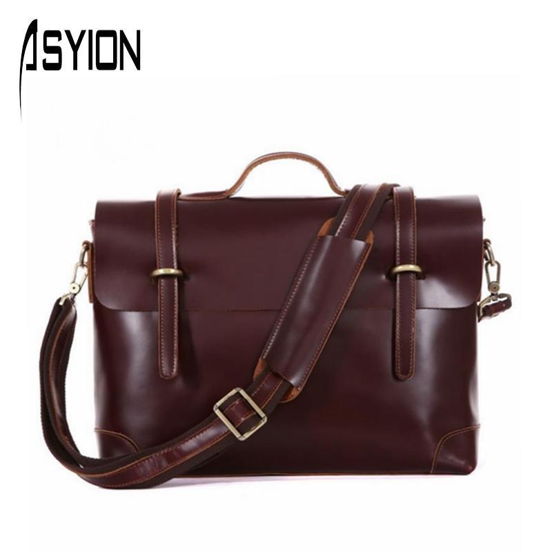 ASYION Italian Leather Handbags Genuine Leather Men Messenger Bags Portfolio Shoulder Crossbody Bags Men's Travel Bags DB5598(China (Mainland))