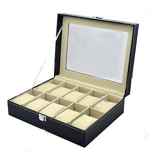 Гаджет  PU Leather Watch Display Case Jewelry Collection Organizer Box 10 Grid None Часы