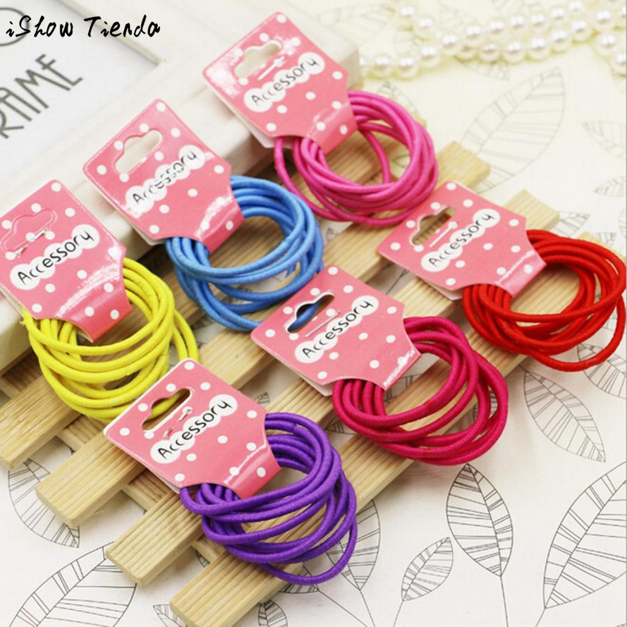 Girl Elastic Hair Band Candy Color Headwear Ponytail Rope Band Ties Girls Hair Accessories #2627(China (Mainland))