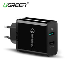 Ugreen USB Charger Qualcomm Quick Charge 3.0 30W Fast Mobile Phone Charger(Quick Charge 2.0 Compatible) for Samsung Huawei LG(China (Mainland))