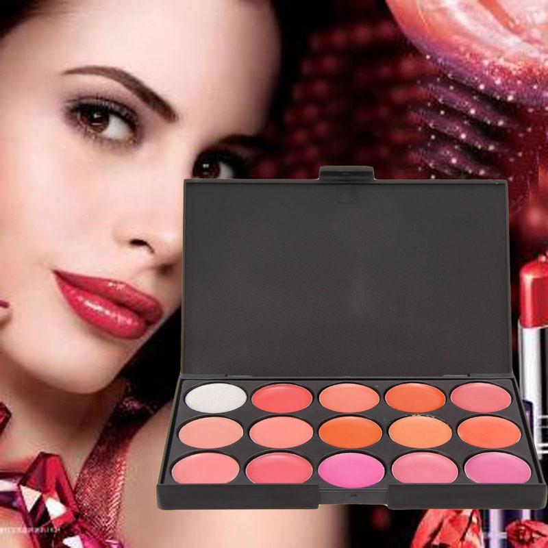 Гаджет  High Quality 15 Colors Lip Gloss Palette Makeup Lipstick Palette Lipgloss Lips Lip Pigment Lip Palette None Красота и здоровье