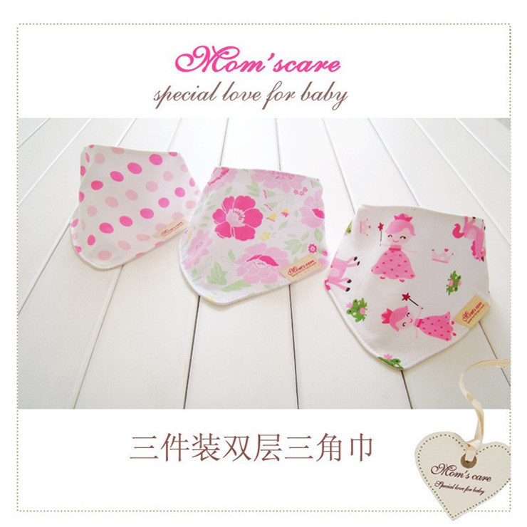 New Arrival 3Pcs/Lot Newborn Carters 100%Cotton Baby Boy Towel Baberos Bebes Baby Bibs Girls Baby Bandana Bibs for Newborns B-02(China (Mainland))