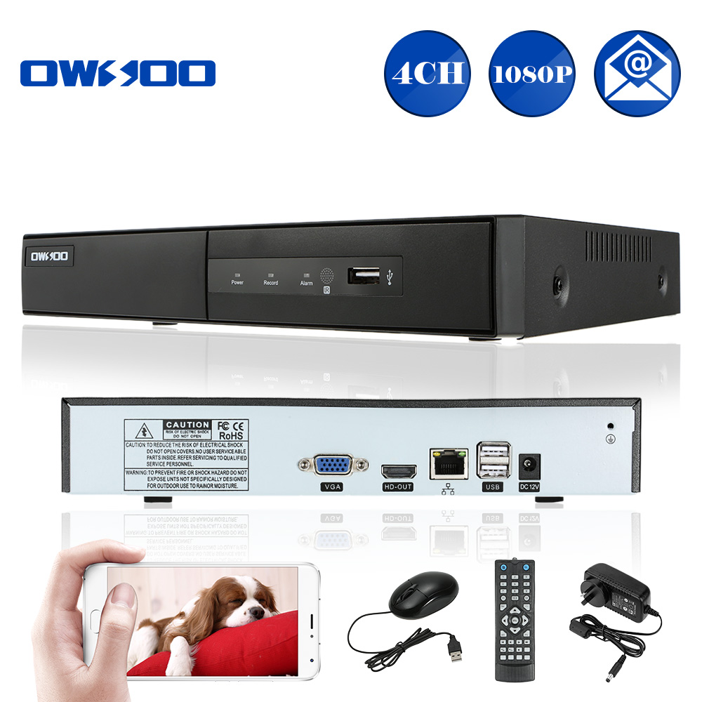 OWSOO HD 1080P 4 Channel NVR Recorder CCTV NVR H.264 P2P Motion Detection Onvif DVR Recorder For Home Security IP Camera System(China (Mainland))