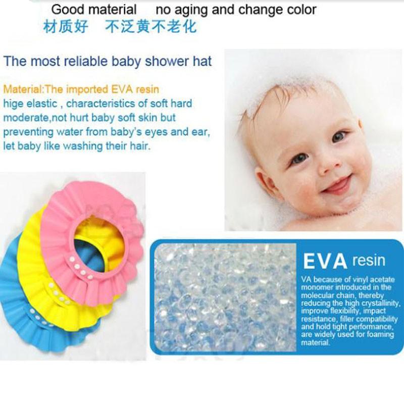 1 шт./лот регулируемая шампунь шапочка для душа на детские EVA детского здравоохранения ванной водонепроницаемый шляпы детей мыть волосы защиты LA870060